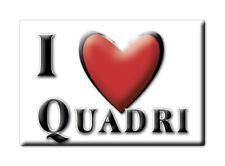CALAMITA ABRUZZO ITALIA FRIDGE MAGNET MAGNETE SOUVENIR I LOVE QUADRI (CH)