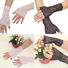 Women Lace Fingerless Summer Sunscreen Short Gloves Costume Wedding Party Gift