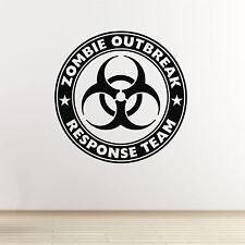 Zombie Outbreak Response Team Wall Sticker. Kids / Teen Bedroom Wall Art