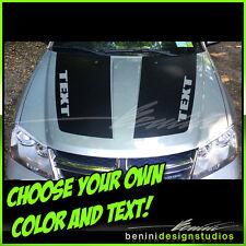 2008 2009 2010 2011 2012 2014 Dodge Avenger Hood Decal Graphics Stripes Style 1
