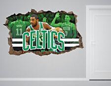 Boston Celtics NBA Wall Decal Living Room Or Room 3D Wall Paper Sticker J254