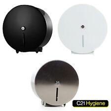 Mini Jumbo Metal Silver, White or Black Toilet Tissue Paper Rolls Dispenser- NEW