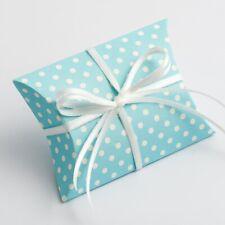 Azul En Forma De Almohada Diseño De Lunares favor Caja Boda Bautizo Baby Shower