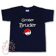 T-Shirt m. Aufdruck Großer Bruder - Pirat - Wahl: WUNSCHNAME, Farbe, Größe - NEU