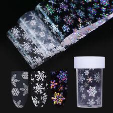 Weihnachten Schneeflocken Holographische Nagelfolie Nagel Aufkleber Dekoration