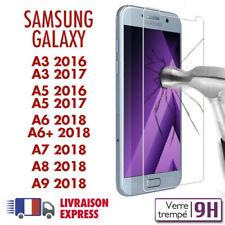 Galaxy A3,A5,A6,A7,A8 2016/17/18 vitre protection verre trempé écran Samsung A6+