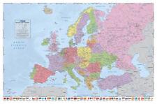 Carta politica dell' Europa Poster con Bandierine Nuova Edizione