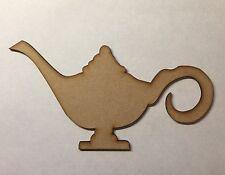 Lampada di Aladino antico in legno taglio laser 3MM spessore Craft Forma in Bianco