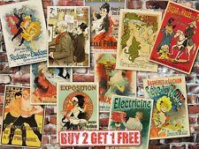 A3 vintage français de haute qualité publicité affiches rétro style Art nouveau Art Maison