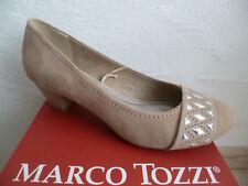 Marco Tozzi Décolleté pantofola mocassino ballerina beige sabbia NUOVO