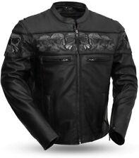 Savage Skulls Men's Motorcycle Leather Jacket