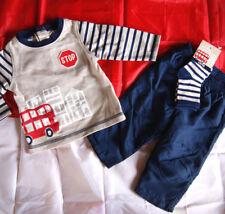 ENSEMBLE 6 mois 3 PIECES t-shirt manche longue pantalon chaussette garçon bébé