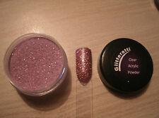 Glitteratti 31 Glistening Mauve Glitter Premixed Acrylic Powder OPI NSI Nail Art