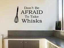 Cucina non aver paura di prendere FRUSTE, Muro Arte Adesivo Trasferimento, in vinile, PVC