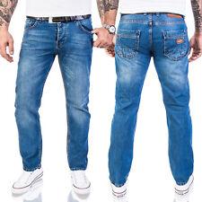 Lorenzo Loren Herren Designer Jeans Hose Hellblau Pants Basic Jeans LL-327 NEU