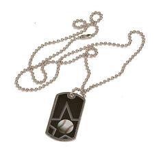 Black/Silver Engraved Sports ID Tags/Dog Tags-Basketball, Tennis, Football, Star