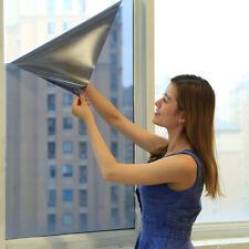 1Pc Window Glass Film Shading Sun Block Ultraviolet-proof Sliver Mirror 50*100cm