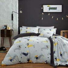Teddy Fleece Sausage Dog Design Super Cosy Soft Warm Duvet Covers Bedding Sets