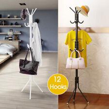 12 Hook 3-Tier Hat Coat Clothes Rack Tree Style Steel Hanger Umbrella Stand