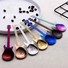 12cm Guitar Shaped Spoons Coffee Mixing Spoon Stainless Steel Tableware Flatwear