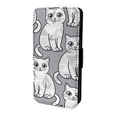 iPod Flip Case Cover 5th 6th Gen Cat Pet Pattern - S7338