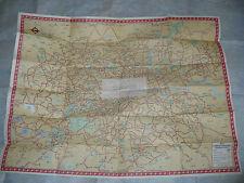 MAPPA TRASPORTI LONDRA BUS MAP CENTRAL AREA LONDON TRANSPORT JANUARY 1951