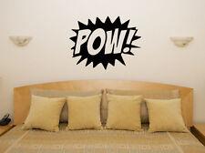 POW BATMAN EROE simbolo lotta Bambini Camera Da Letto Decalcomania Muro ARTE Adesivo FOTO