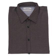 7542K camicia uomo FRED MELLO BROWN/WHITE cotton shirt man