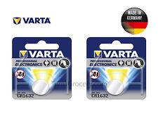 2 x VARTA Professional Lithium CR1632 6632 Coin Battery 3V EXP:2026