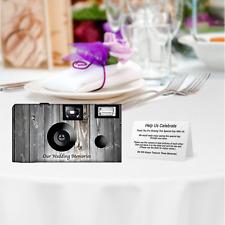 10 Rustic Wedding Disposable Cameras-PERSONALIZE-wedding camera/anniversary