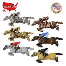 Jockey Lapel Pin or Magnet, M136 Creative Pewter Designs Horse Jumping &