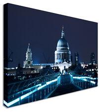 London St Pauls Night - Canvas Wall Art Picture Print