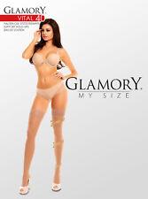 Glamory Vital 40 den halterlose Stütz-Strümpfe bis grosse Grösse 62 XXXXL 50114