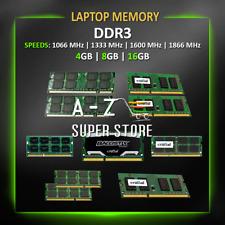 DDR3 Laptop Memory RAM 4GB 8GB 16GB 1066MHz 1333MHz 1600MHz 1866MHz lot SODIMM