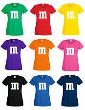 M&M Fans T-Shirt Kostüm Gruppenkostüm Karneval Fasching Damen Herren