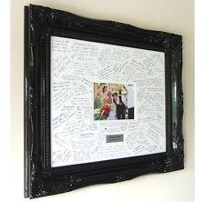 Black Luxury Wedding Guest Signing Frame – Large Baroque style - Customisable