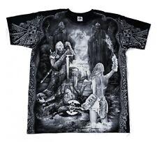 Gothic Metal T - Shirt Valhalla Walhalla Odin Raben Wolf Wikinger M L XL XXL