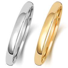 2mm Platinum, 18ct/9ct White/Yellow Gold Slight Court Wedding Band/Ring