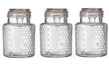 Apiary Pink Seal Small Glass Jar Distinctive Honeycomb Pattern Brand New
