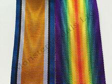 Pair WW1 British War Medal & Victory Medal Full Size Medal Ribbon Choice Listing
