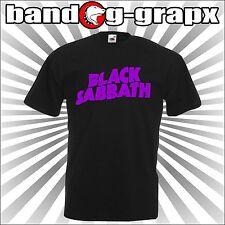 BLACK SABBATH  OZZY T-shirt METAL ROCK NERO cotone 100% con stampa logo