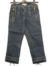 Jeans Capri donna MONKEY TEMPLE Tg. W24 IT 38 Denim Vintage Original New