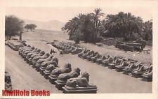 Postcard Rppc Avenue of Sphinxes Karnak Egypt