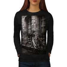Wellcoda Photo Old Funky Vintage Womens Long Sleeve T-shirt, Retro Casual Design