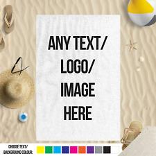 Cualquier Texto Logo Imagen Personalizado MICROFIBRA PLAYA TOWEL PISCINA