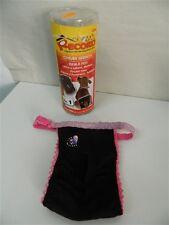 Cintura igienica per cani RECORD Nera con strass pizzo rosa Misure 0 1 4 5 M274