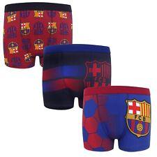 Boxer ufficiali FC Barcelona - stemma della squadra - ragazzo - confezione da 3
