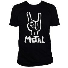 Camiseta de metal pesado Metallica Black Sabbath gracioso música banda Gráfico Camiseta para hombre/