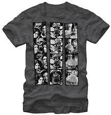 Official Star Wars Photo Booth Adult T-shirt -Darth Vader David Bowie Boba Fett