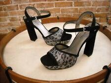 Bandolino Organzi Black Suede & Metallic Platform Sandals NEW